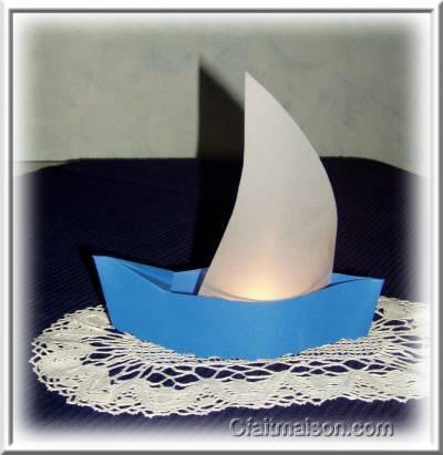photophore bateau voilier pour d coration de salle et. Black Bedroom Furniture Sets. Home Design Ideas
