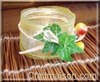 Photophores fabriquer pour d coration de salle et de tables - Customiser des pots en verre ...