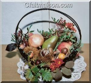 D coration de salle et de tables sur le th me de l 39 automne - Comment decorer une corbeille en osier ...