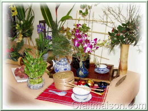 D coration de salle et de tables sur le th me de l 39 asie for Jardin chinois miniature