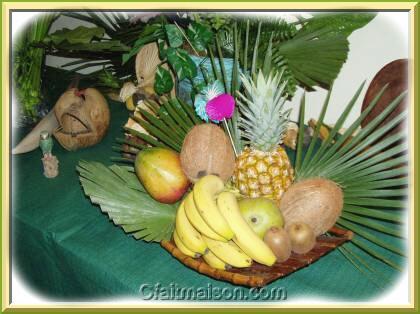 Plateau de fruits exotiques