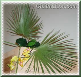 D coration de salle et de tables sur un th me exotique ou - Set de table feuille de palmier ...