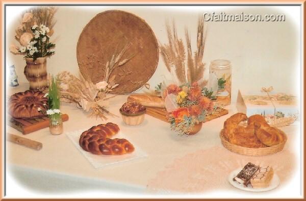 D coration de salle et de tables sur le th me de la boulange du bl au - Idee deco boulangerie ...
