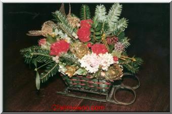 D coration de salle et de tables sur le th me de no l et for Composition florale exterieur hiver