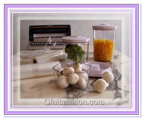 congélation des légumes sous vide