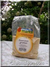 Paquet de graines d'amarantes bio