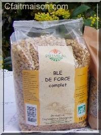 Paquet de graines de blé de force bio