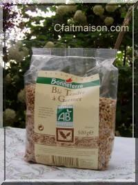 Paquet de graines de blé tendre bio