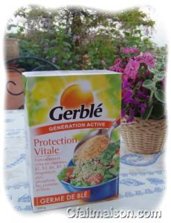 Boîte de paillettes de germes de blé
