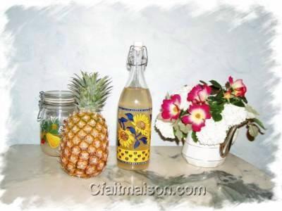 kefir fait maison à l'ananas