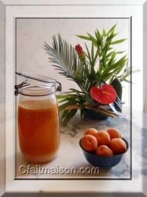 kefir fait maison à l'abricot