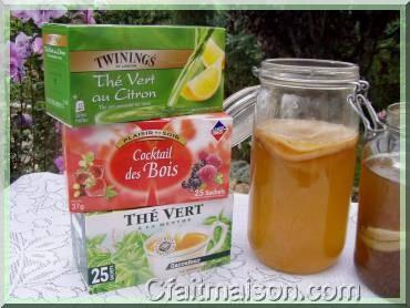 De nouveaux arômes pour la boisson kombucha : infusion de fruits, thé vert au citron ou à la menthe