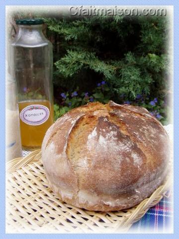 pain au levain naturel de kombucha