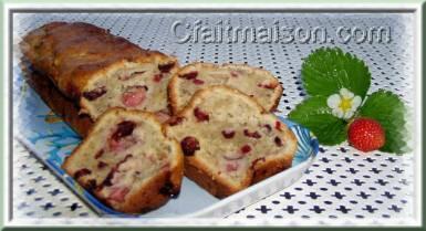 Cake aux fraises et aux cranberries.