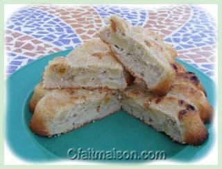 Gâteau de pommes au quinoa.