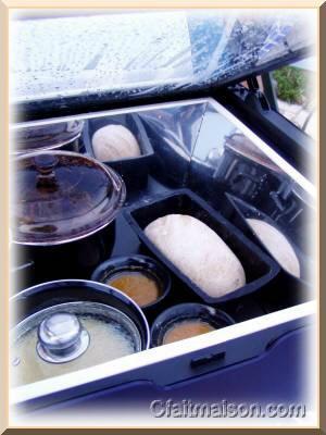 Repas préparé au four solaire.