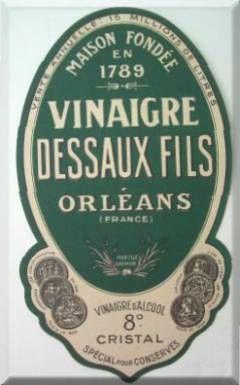 Etiquette de bouteille de vinaigre